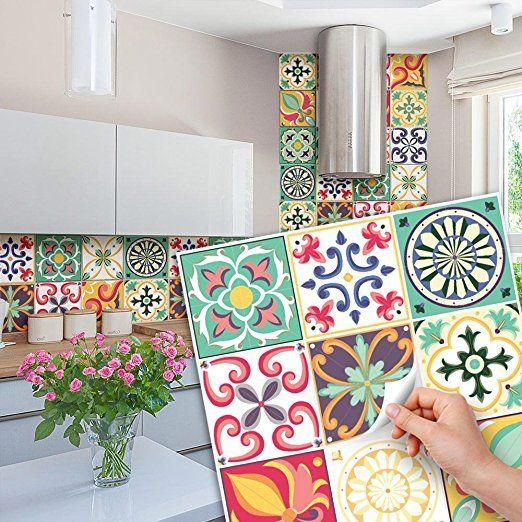 81 Carrelage 10x10 Cm Ps00049 Pvc Autocollants Carreaux Pour Salle De Bains Et Cuisine S Salle De Bain Et Cuisine Deco Maison De Campagne Carreaux Decoratifs