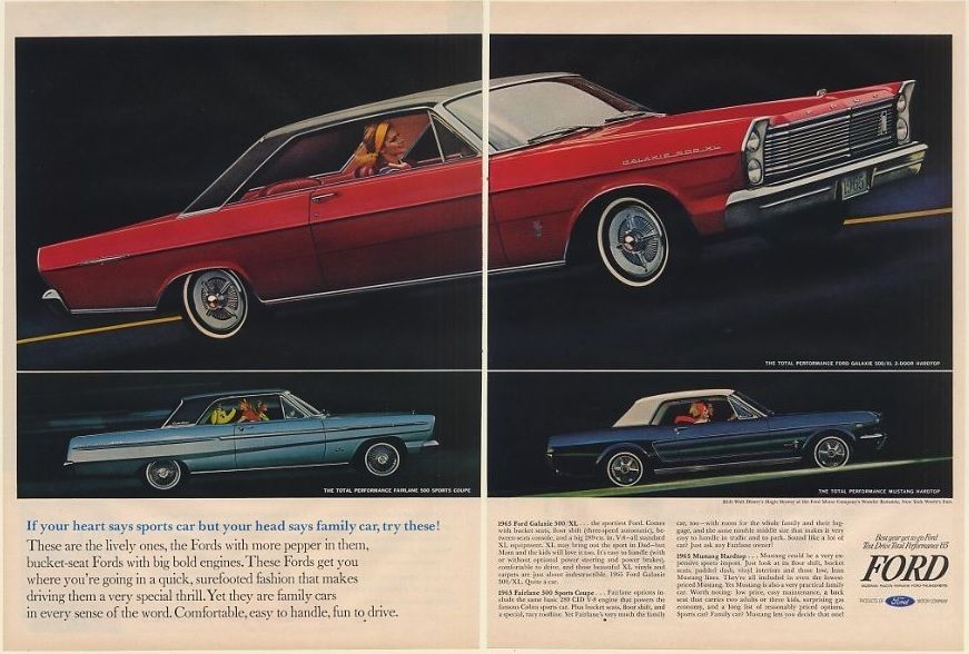 1965 Ford Galaxie 500 Xl 2 Door Hardtop Fairlane 500 Coupe Mustang