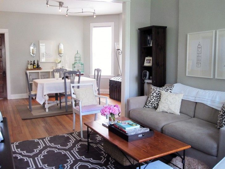 Living Room Interior Living Room And Dining Room Idea Rectangle
