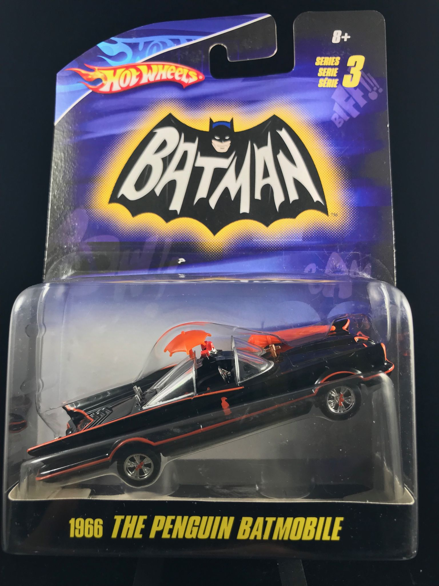 2009 Hot Wheels Series 3 1966 The Penguin Batmobile 1 50 Scale