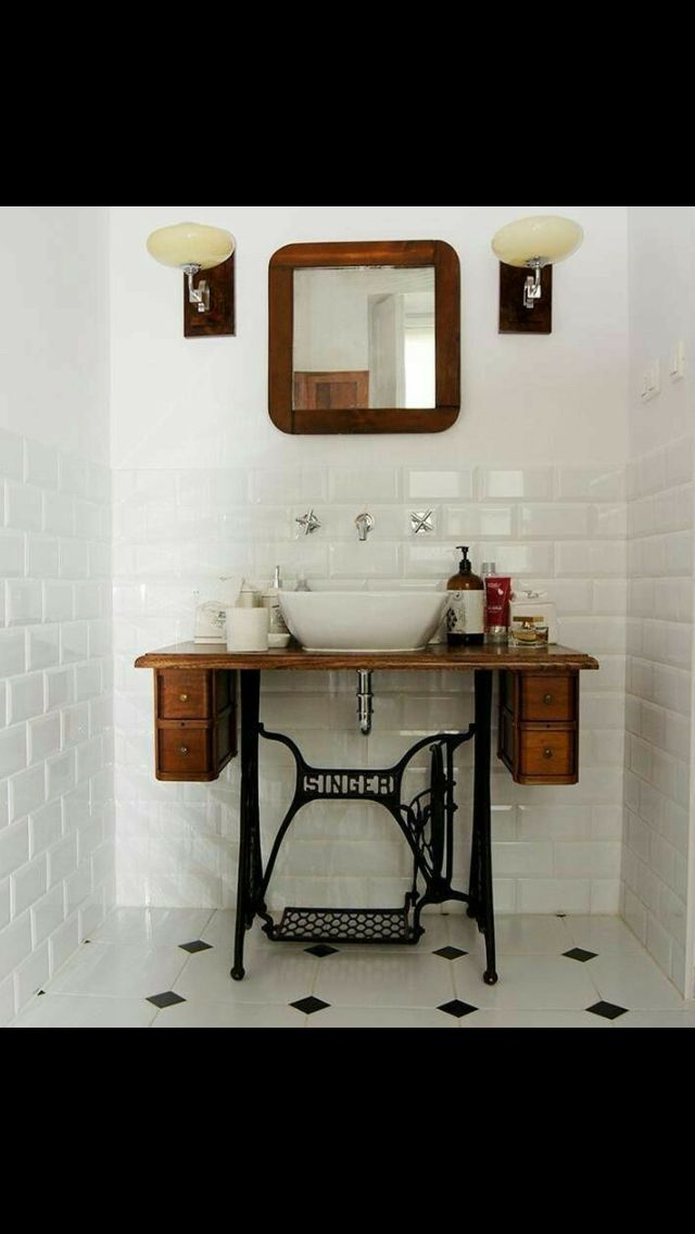 Sewing Table Repurpose Sink
