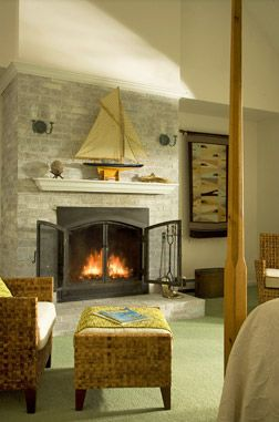 Sand Dollar Fireplace Room At The High Pointe Inn Bed And