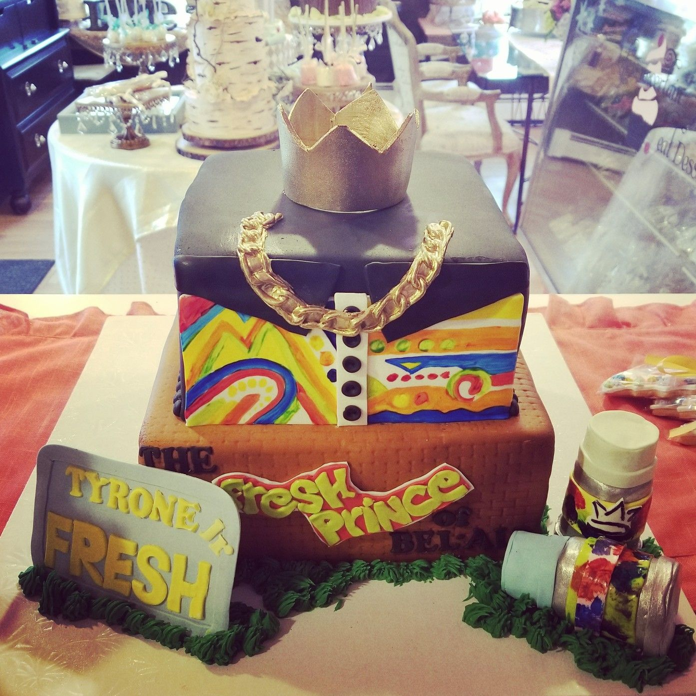 Fresh prince of bel air 1st birthday cake #carinaedolce www ...