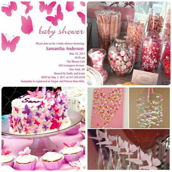 Today We're Sharing This Stunning Pink Butterfly Theme Baby Shower, Especially Suitable For Baby