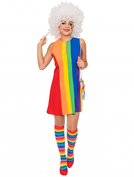 Kleid Rainbow Damen in 2020 | Kleider, Damen, Modestil