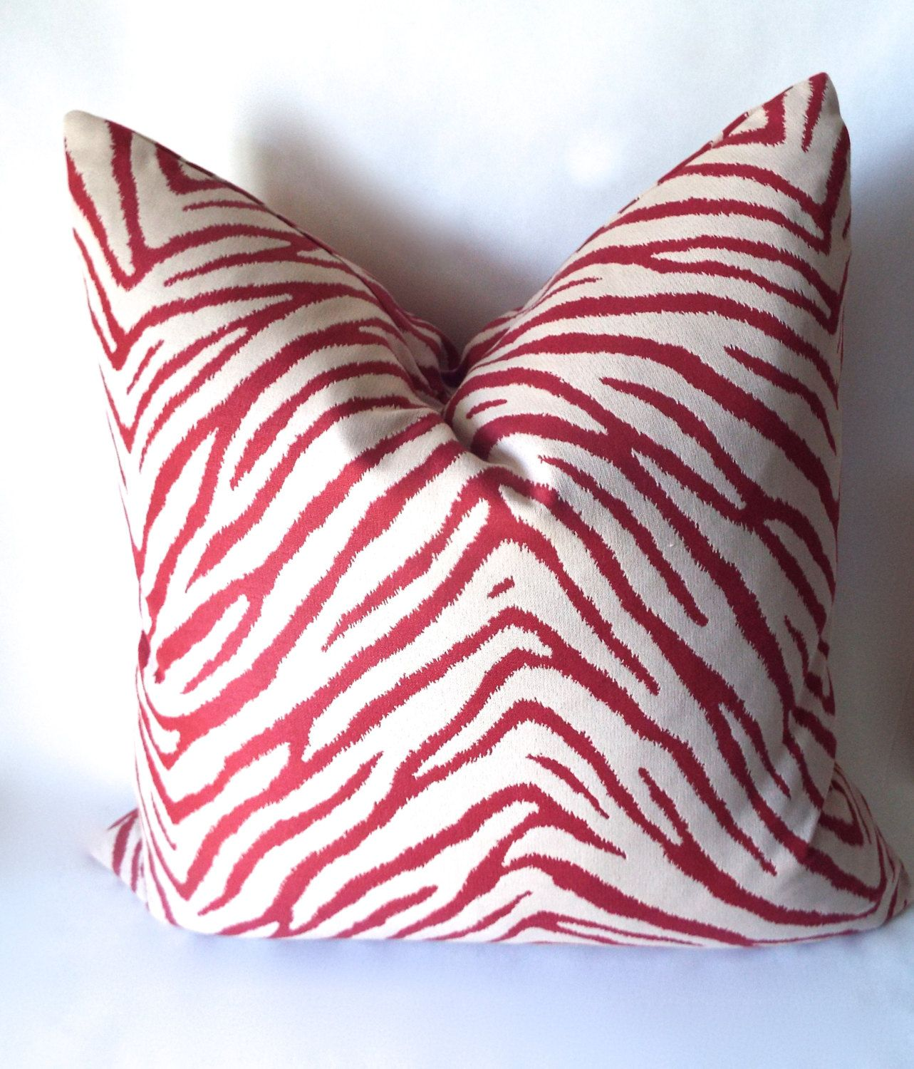 Red Zebra Pillow Zebra Print Throw Pillow Cover Animal Print