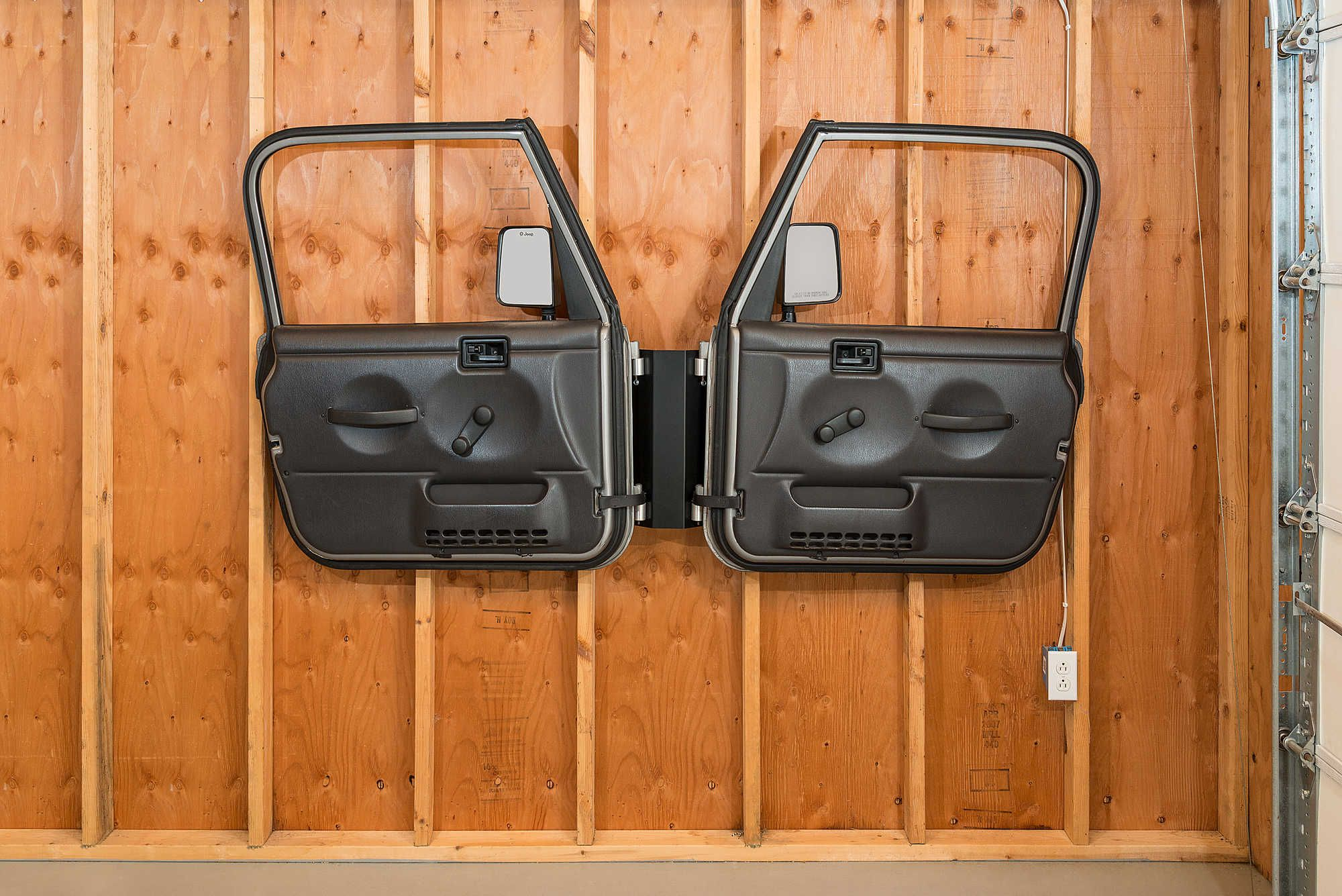 Door Storage Hanger For 76 20 Jeep Wrangler Jl Jk Tj Yj Cj 7 Door Storage Jeep Doors Weather Seal