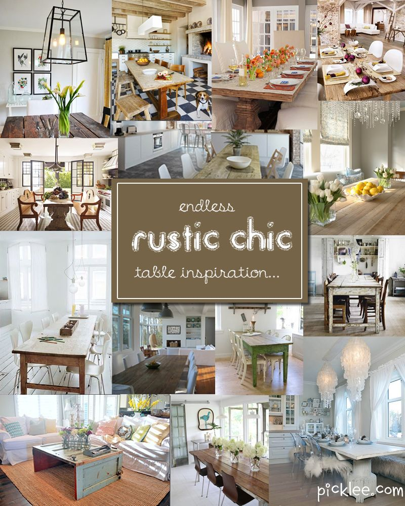 14 Fabulous Rustic Chic Dining Tables