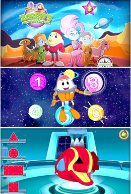 A Preschool Math Game, Zorbit's Math Adventure, helps kids learn math in a fun and safe environment. A great app to use preparing for kindergarten. - via iGameMom.com --  #MathApps #kidsapps