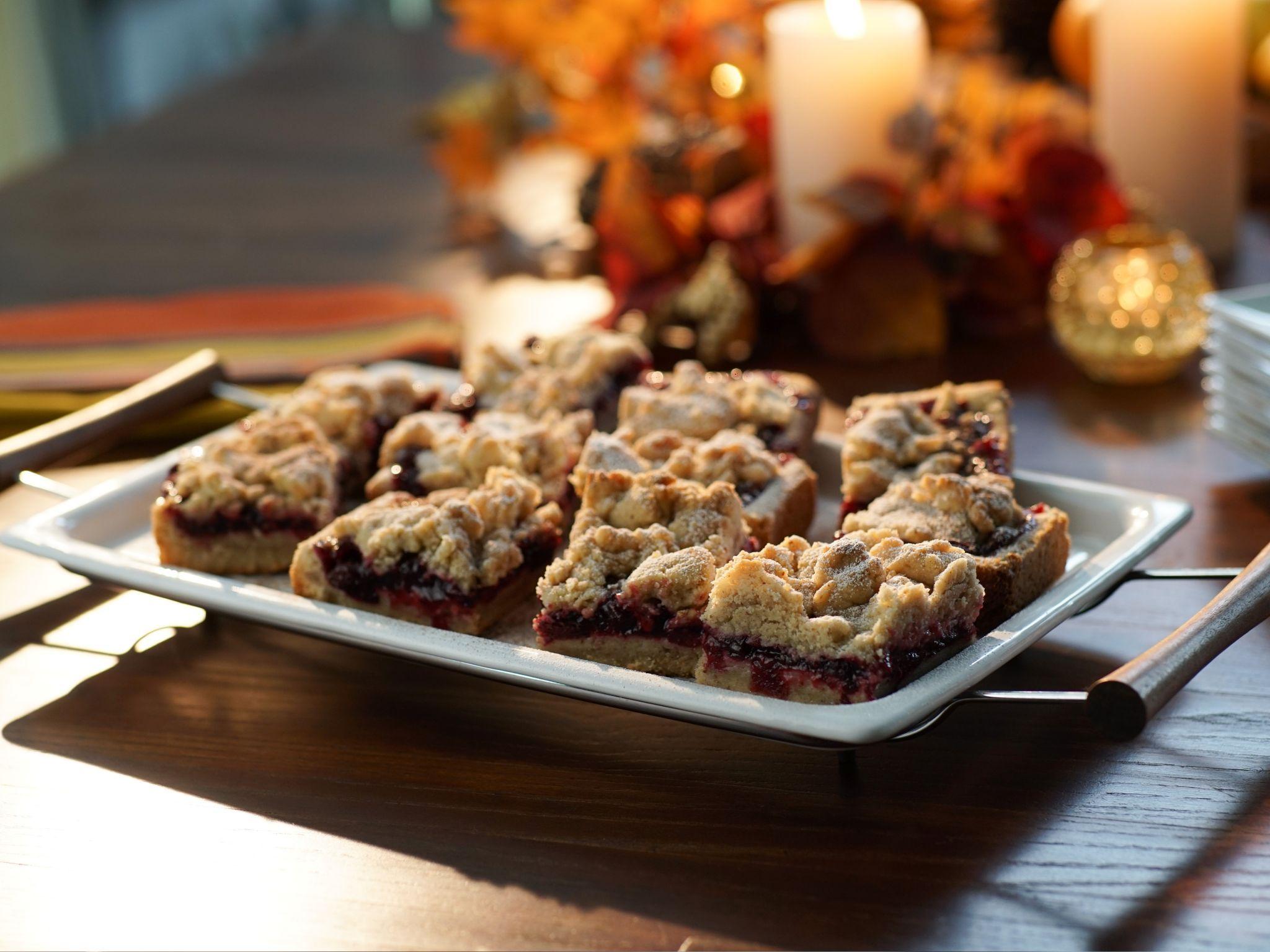 Cranberry Pomegranate Crumb Bars Recipe Food Network Recipes Cranberry Bars Recipes