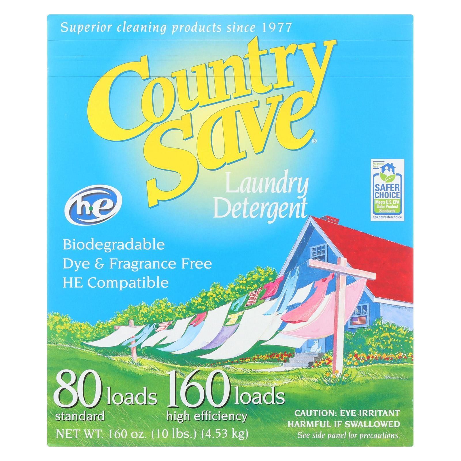 Country Save Laundry Detergent Powder Case Of 4 10 Lb