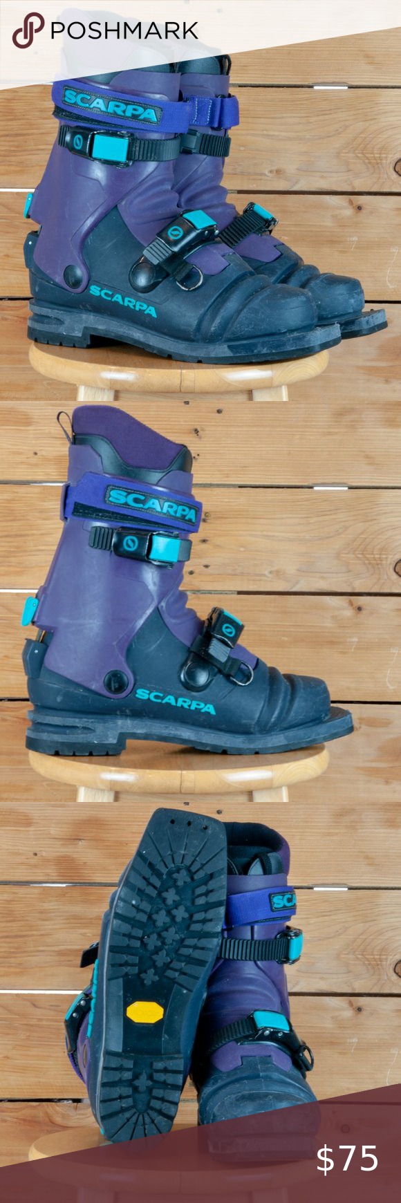 Scarpa Telemark Boots M8 5 Mondo 26 5 Older Model T1 Or T2 Telemark Cross Country Ski Boots 75mm 3 Pin N In 2020 Cross Country Ski Boots Boots Ski Boot Sizing