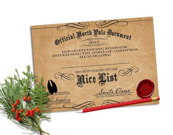 Editable nice list certificate printable instant download editable nice list certificate printable instant download yadclub Choice Image