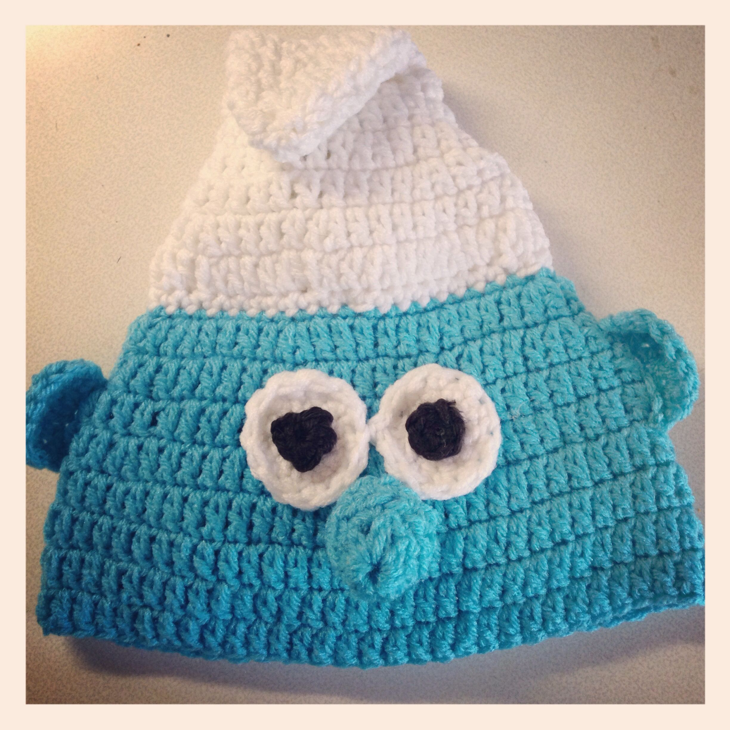 Smurf crochet hat My crochet items Pinterest Crochet ...