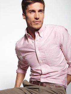 Pin by Yasemin Kurt on Pink shirt men look | Pinterest