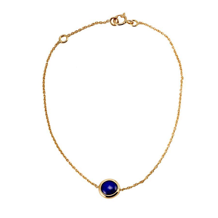 Bracelet femme, lapis lazuli 0,80 ct, or jaune, 0.81g #LeManegeABijoux