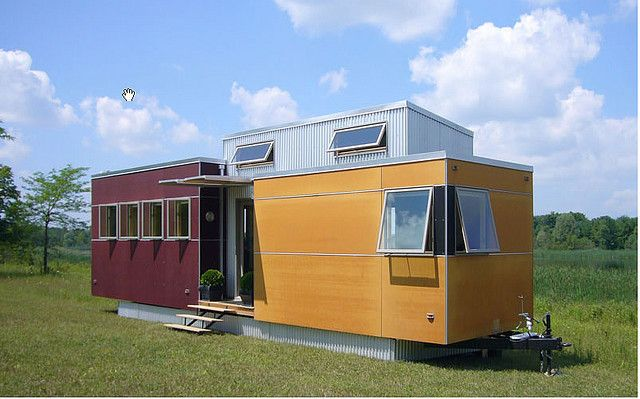 "canadian sustain design studio's ""miniHOME"", a prefab modular design."
