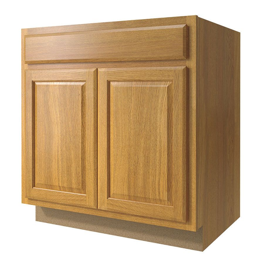 Shop Kitchen Classics 33 In W X 35 In H X 23 75 In D Finished Portland Oak Door And Drawer Base Cabinet At Lowes Com Stock Cabinets Base Cabinets Cabinet