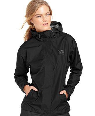 Helly Hansen Seven J Hooded Rain Jacket - Jackets - Women - Macy's