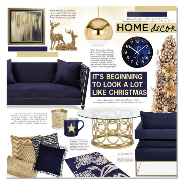 """""""It's beginning to look like Christmas"""" by mada-malureanu ❤ liked on Polyvore featuring interior, interiors, interior design, home, home decor, interior decorating, Haute House, Universal Lighting and Decor, Tom Dixon and Hotel Collection"""