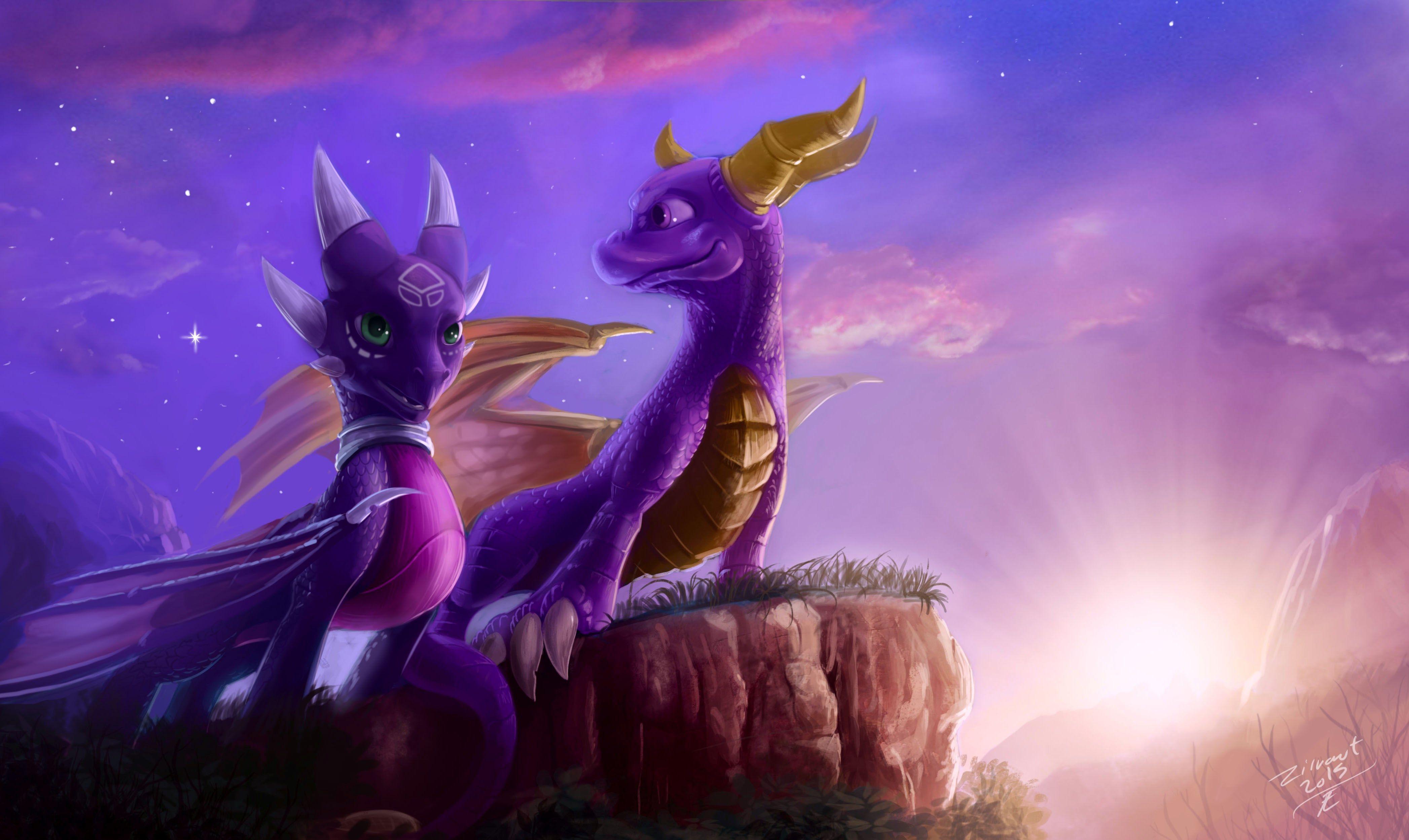 4k Wallpaper Spyro The Dragon 4188x2498 Spyro Cynder Spyro