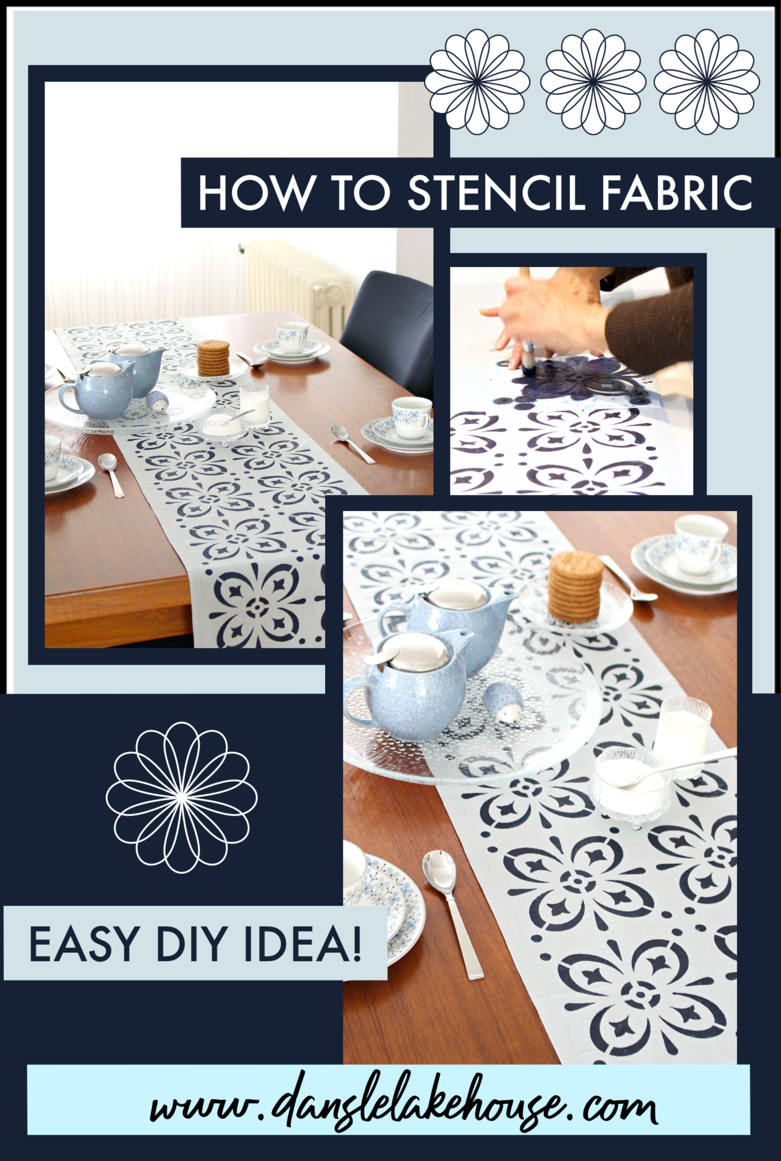 How To Stencil Fabric  Easy Diy Project Turn Your