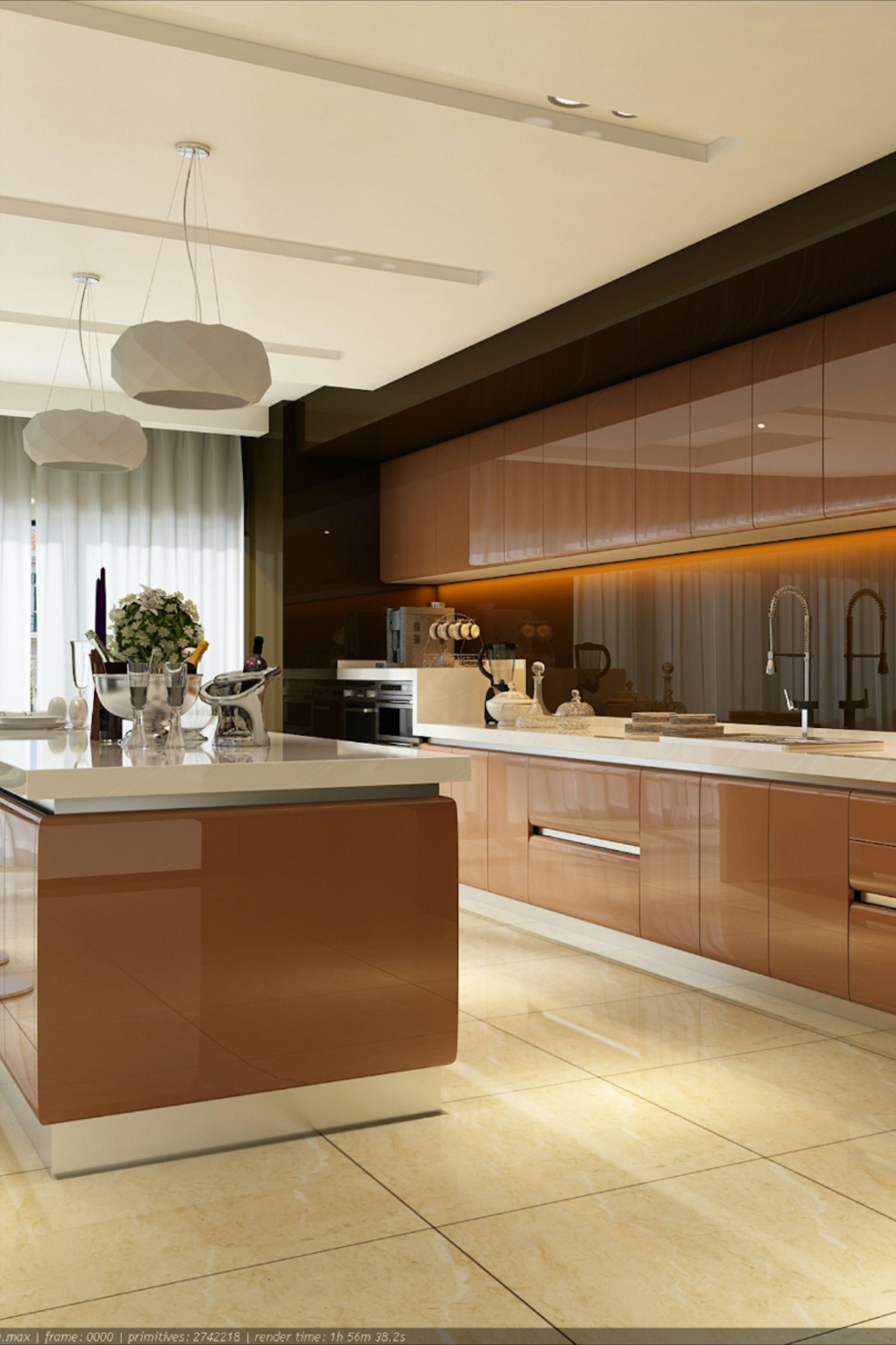 High Gloss Kitchen Cabinet | High gloss kitchen cabinets ...