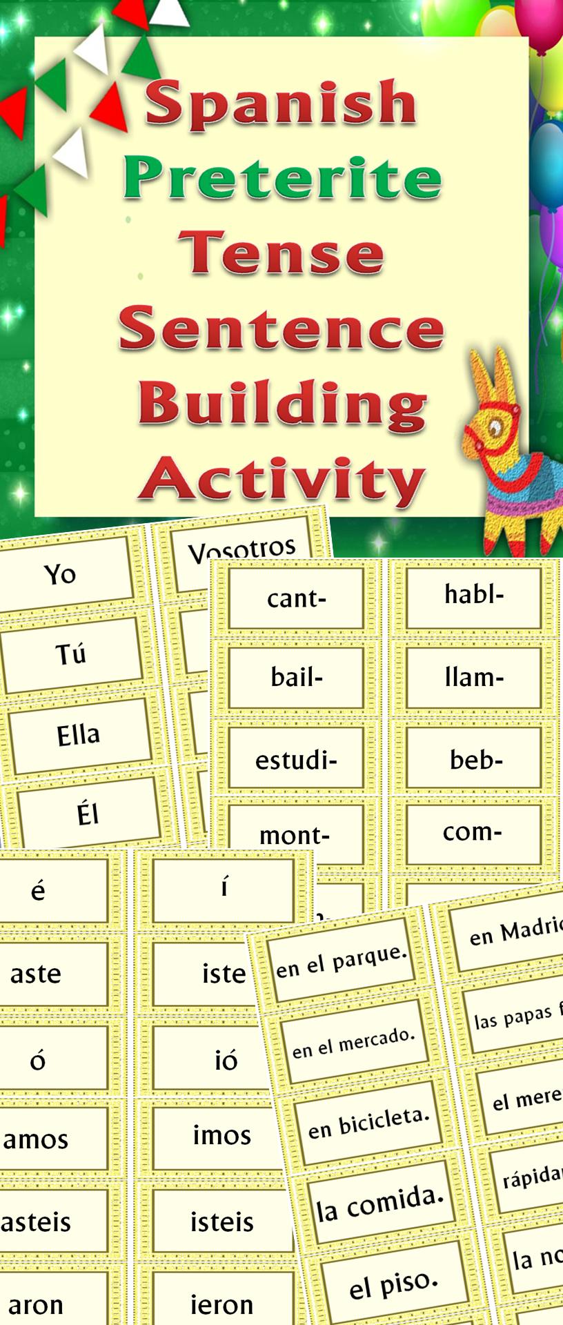 Hands On Activity Making Spanish Preterite Tense Sentences Preterite Spanish Spanish Preterite Tense Spanish Language Learning [ 1920 x 816 Pixel ]
