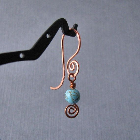Here Is An Interchangeable Copper Version Of My French Sy Swirl Earwires Adorable Combination Two Por Handmade Earring Wires