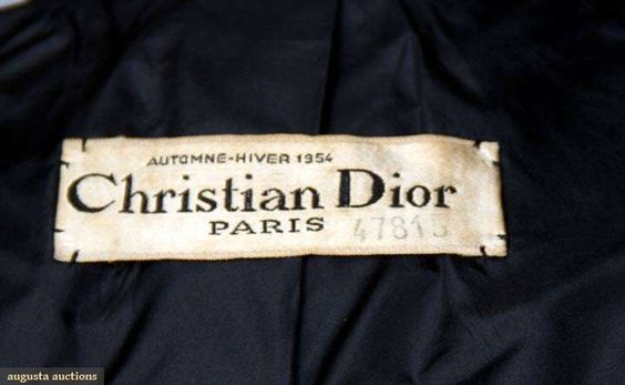 1954 Couture Christian Dior Label Clothing Labels Fashion Labels Printing Labels