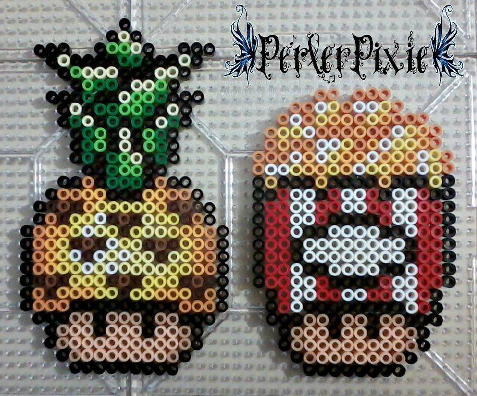 pineapple and popcorn mushrooms by perlerpixie deviantart com on deviantart fuse bead patterns [ 981 x 815 Pixel ]