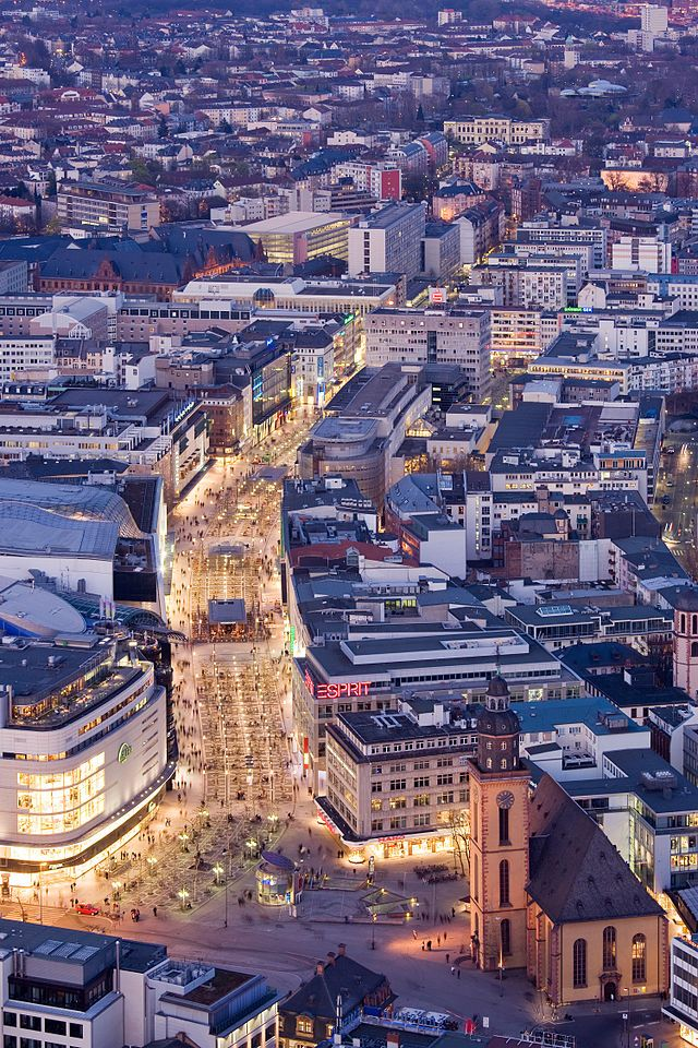 Frankfurt am Main. The Zeil. This is a shopping street