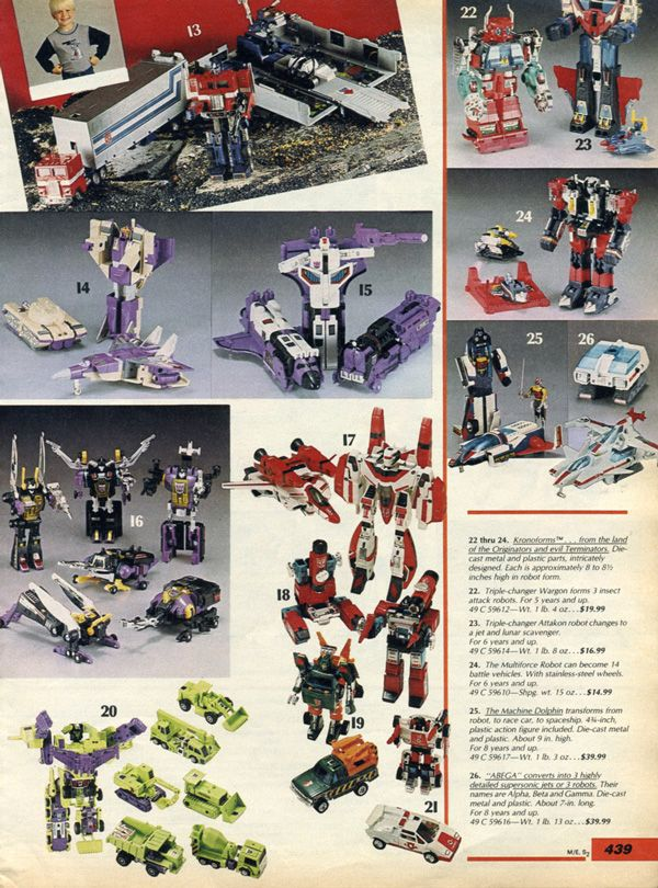 Verzamelingen Overig 1984 ADVERT Toy A Team Corvette Bad Guys Action Figures Transformers Autobot Car