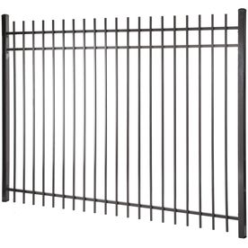Kent Black Steel Decorative Fence Panel Common 6 Ft X 8 Ft Actual Metal Fence Panels Metal Fence Decorative Fence Panels