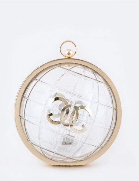 Iconic Clear Globe Clutch