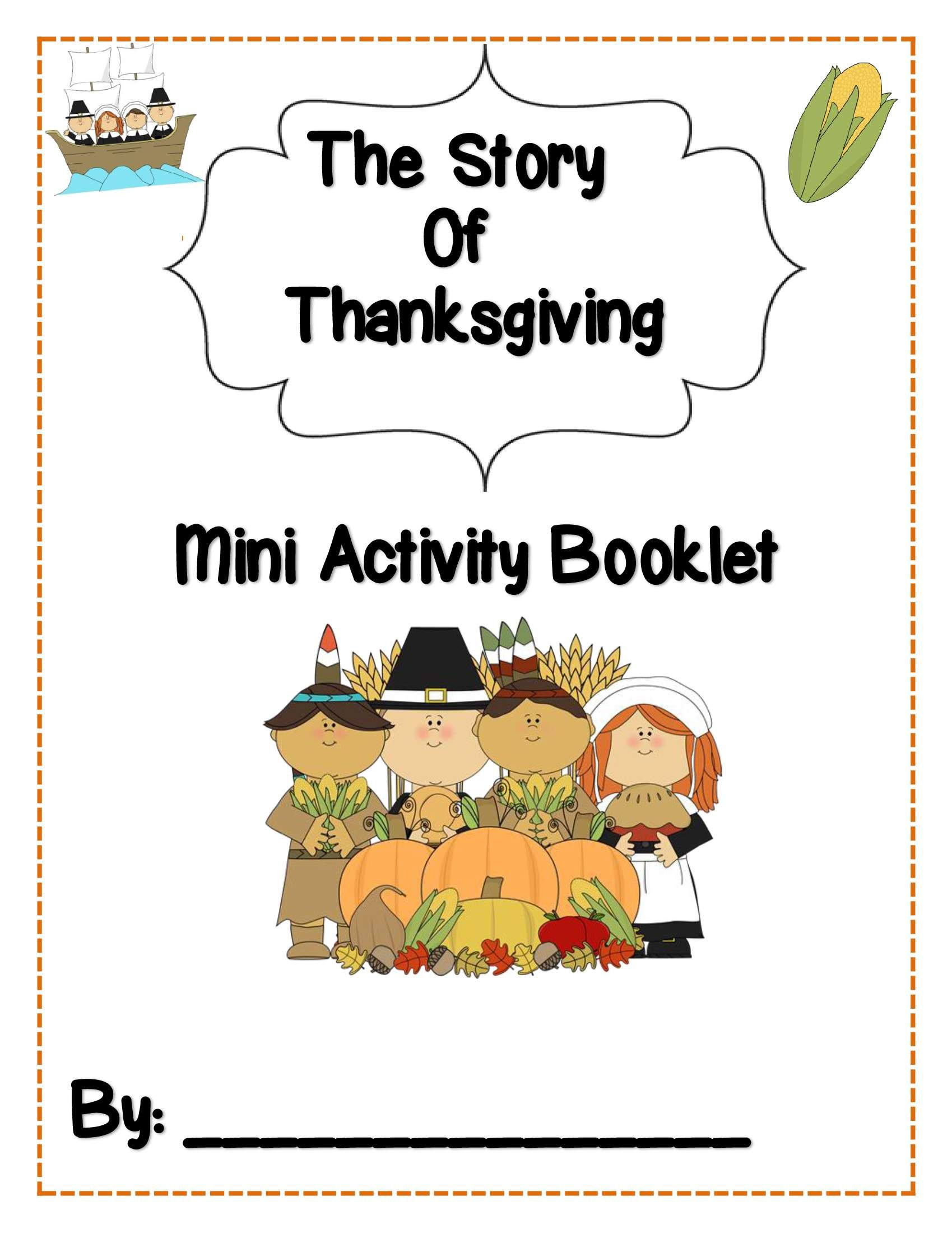 Publishers :: Tech Girl :: The Story of Thanksgiving! {Booklet, Craftivity & Slideshow}