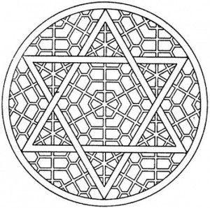 Star Of David Mosaic Coloring Page Mandala Coloring Pages