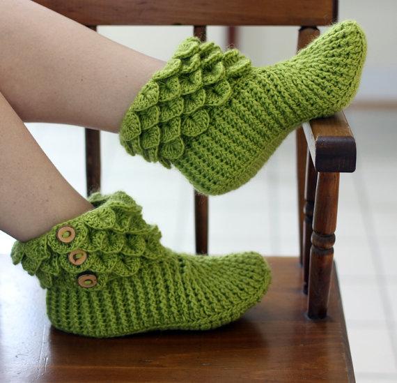 PATRÓN de CROCHET: Botas En modelo Cocodrilo por bonitapatterns ...