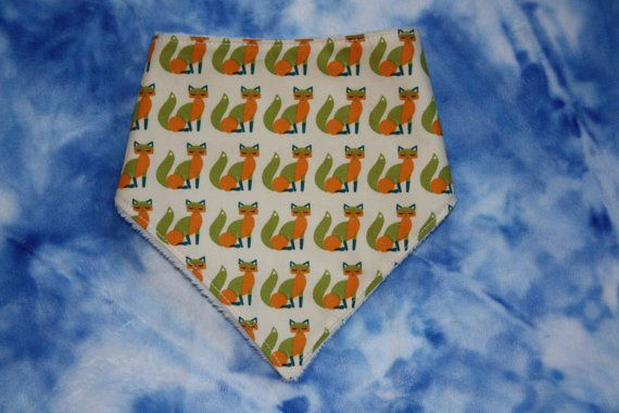 Cute fox Bandana dribble bib drool bib UK seller by SewBitsy, £4.00