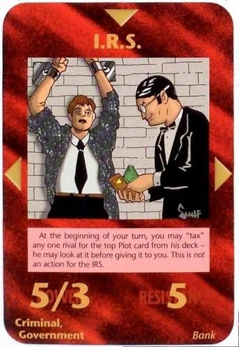 ❥ {Yep, they have us in chains} INWO Illuminati New World Order NWO Card Single I.R.S.