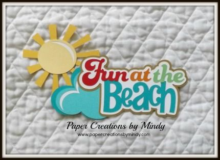 Summer Hot Paper Piecing Scrapbook Border Scrapbooking album Summer Play Beach