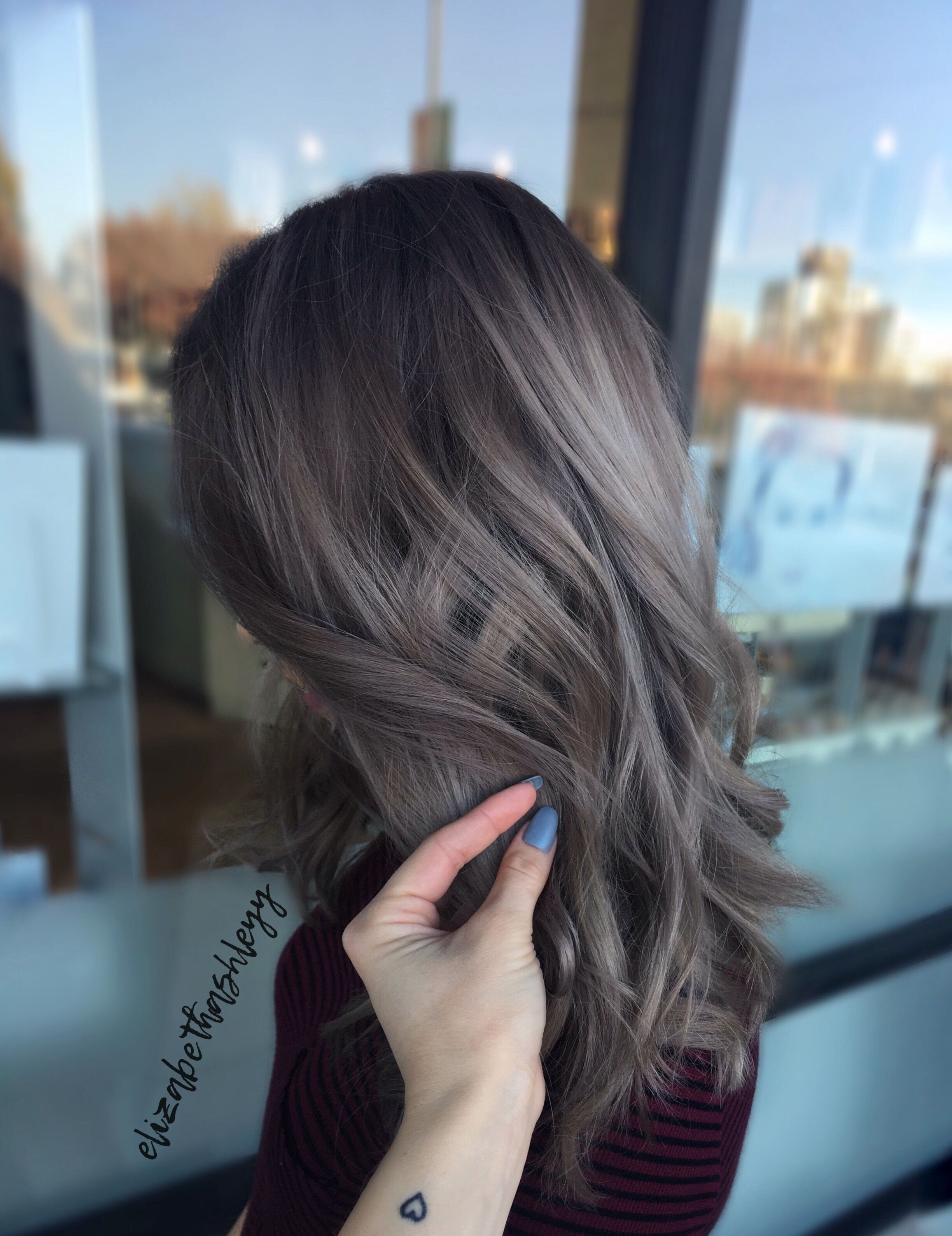 Greige Hair Rooty Ash Blonde Rooty Grey Hair Elizabethashleyy Ash Brown Hair Color Ash Hair Color Brown Hair Balayage