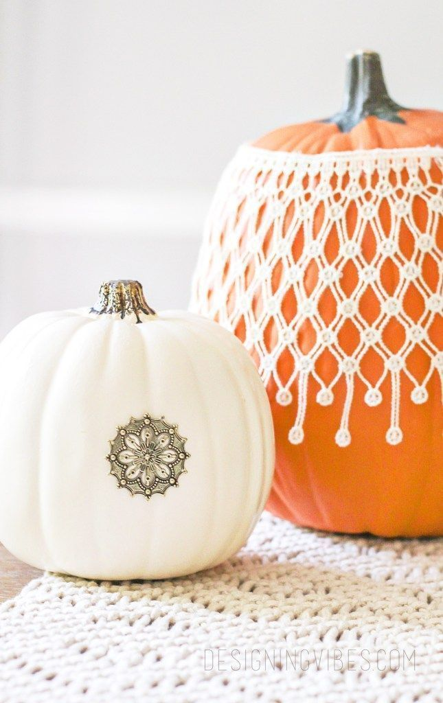 DIY Boho Chic Pumpkins in 3 Easy Steps - Fall Craft Ideas #pumpkinpaintingideascreative Boho Halloween decorations. Boho Halloween Pumpkins. No carve pumpkin ideas. Pumpkin painting ideas. Pumpkin decorating ideas pinterest. creative pumpkin decorating ideas. pumpkin decorations for fall. pumpkin decorating contest ideas halloween pumpkin decorating ideas. mini pumpkin decorating ideas. boho halloween decor. #pumpkinpaintingideascreative DIY Boho Chic Pumpkins in 3 Easy Steps - Fall Craft Ideas #pumpkinpaintingideascreative