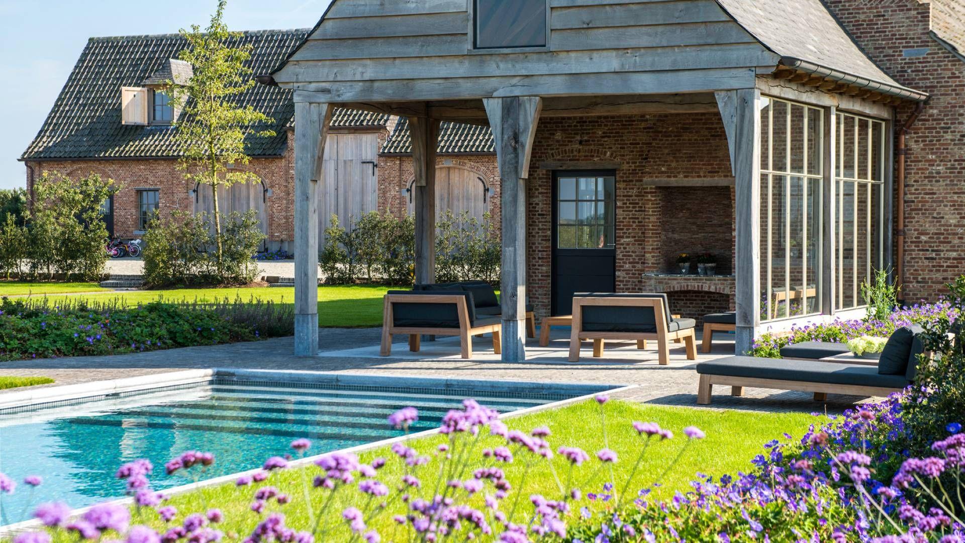 Zwembad te wortegem petegem buiten pinterest outdoor living