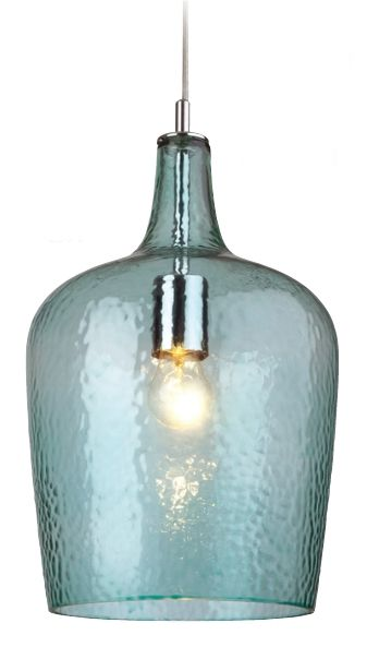 A Lovely Aqua Dimpled Glass Pendant Ideas For The House