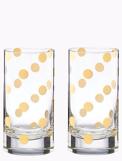 Gold dot glasses