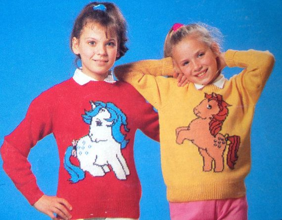Knitting Patterns For Children s Tv Characters : My Little Pony knitting pattern sweaters for children and adults dk or 4 ply ...