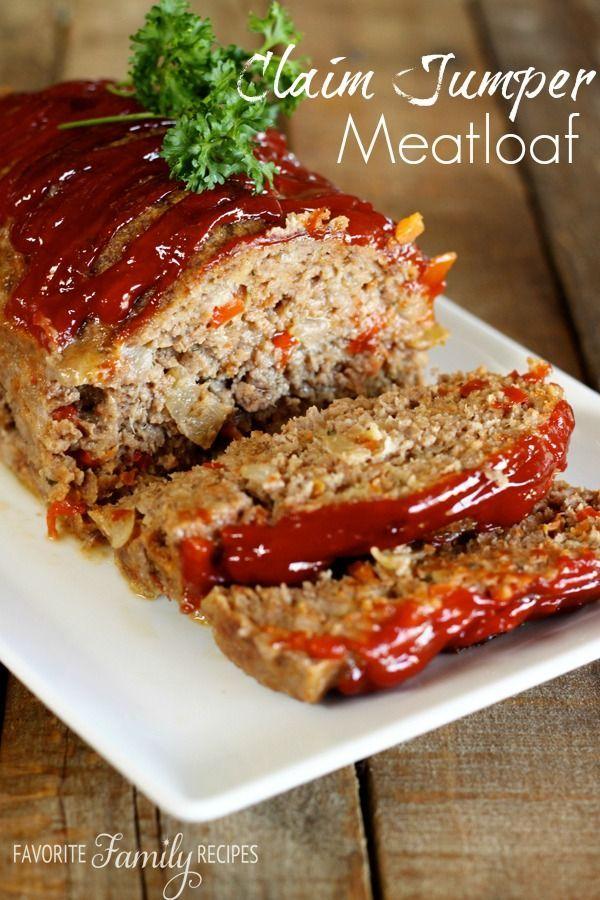 Claim Jumper Meatloaf Recipe Recipes Good Meatloaf Recipe Meat Recipes