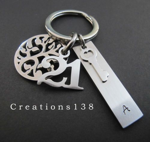 21st Birthday Gifts Personalised Key Ring Gift For Him Men Tree Of Life