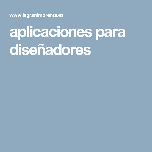 aplicaciones para diseñadores